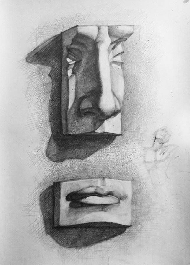Study Drawing #3 by Vangega