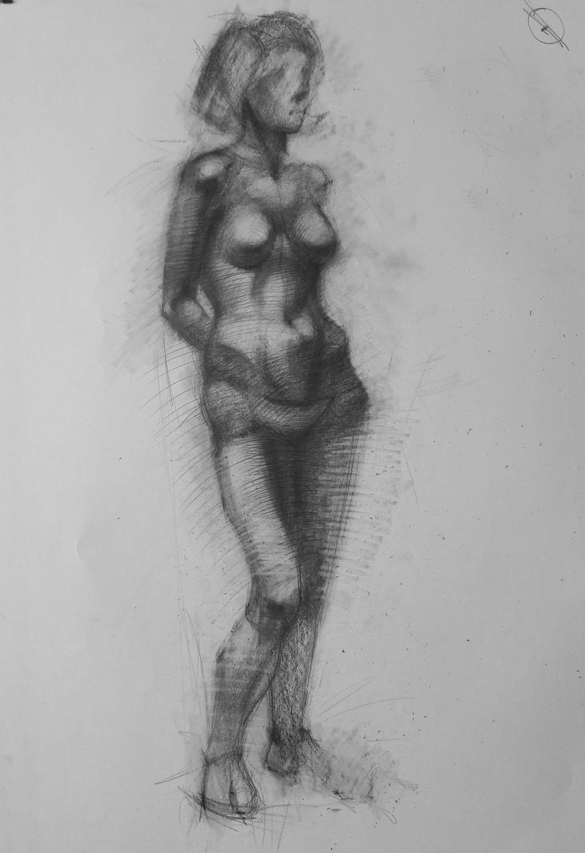 Figure Drawing by Vangega