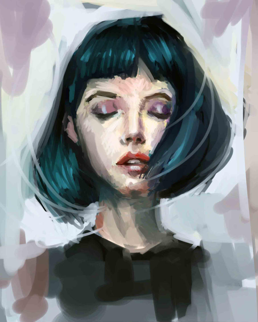 Color and face study by Vangega