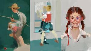 Rockwell quick studies by Vangega