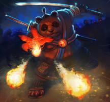 Warrior Panda by Vangega