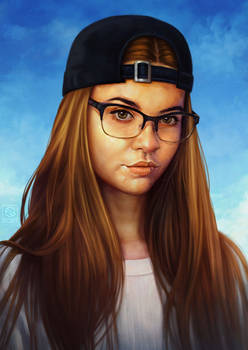 Girl with Backwards Hat
