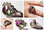 Rainbow Crystal Ring
