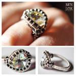 White Crystal Ring