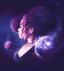 Me and the Galaxy by MelodyNieves