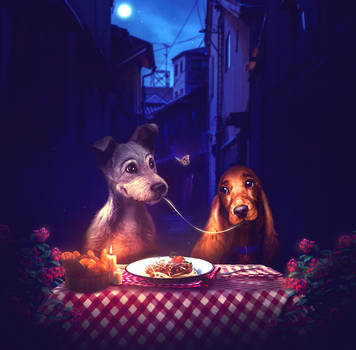 Lady and the Tramp by MelodyNieves