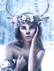 Winter Elk by MelodyNieves