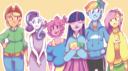 MLP: Mane Six by MaryAQuiteContrary