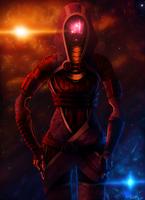Mysterious Warrior- Tali'Zorah by RiptideX1090