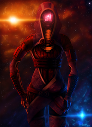 Mysterious Warrior- Tali'Zorah