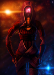 Mysterious Warrior- Tali'Zorah