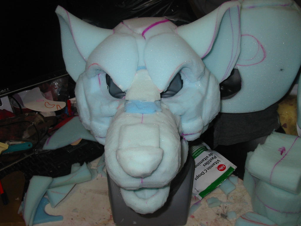Commission: Foam Base Wolf! by Wild-FuZz-Studios