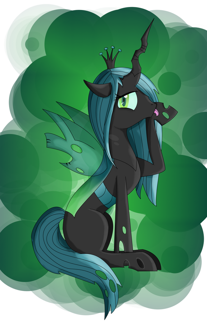 Mlp : Chrysalis licking its paw (2) by SoulRainbow