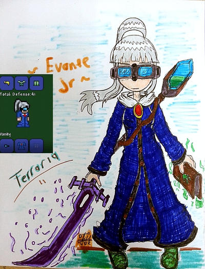 Anime Characters In Terraria : My terraria character evanee jr by amadarian on deviantart