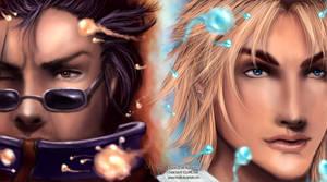 FFX: Auron + Tidus by Mistiki