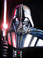 Darth Vader portrait on canvas by The-Mattness