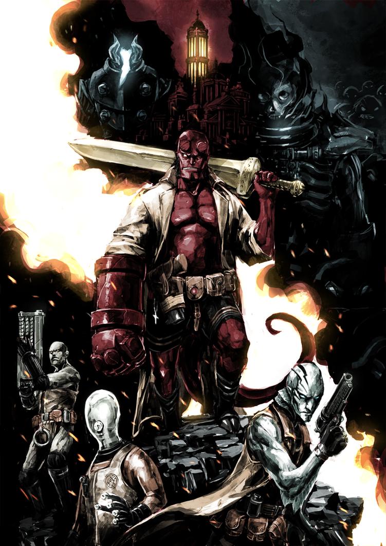 Hellboy and B.P.R.D. by naratani