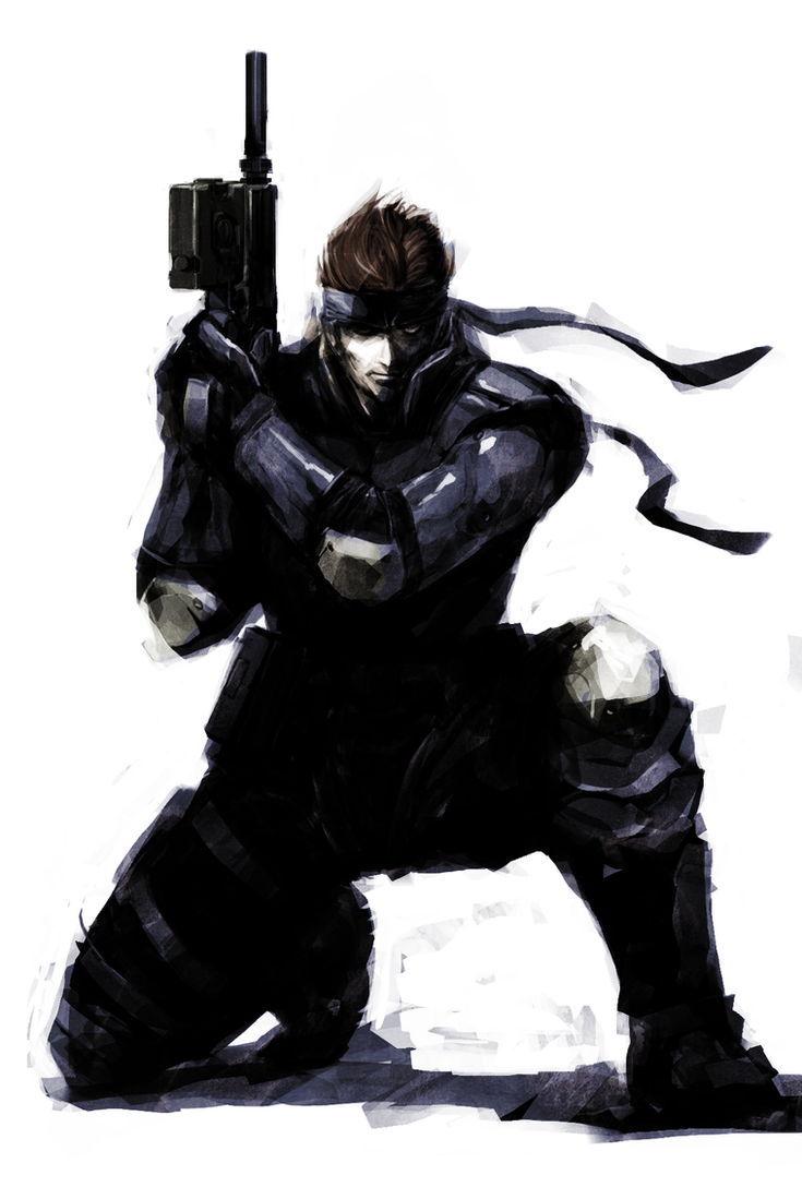 Solid Snake by naratani