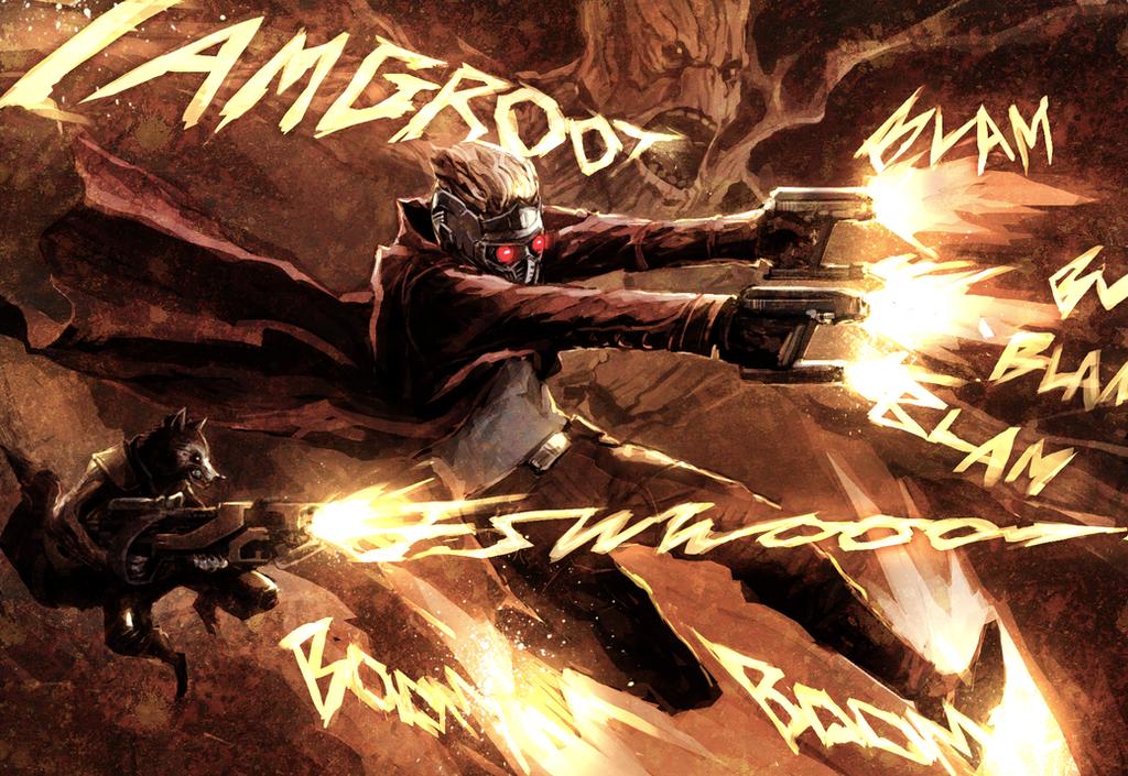 Star-Lord/Groot/Rocket Raccoon by naratani
