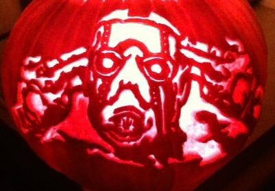 Borderlands pumpkin by demonXeyes