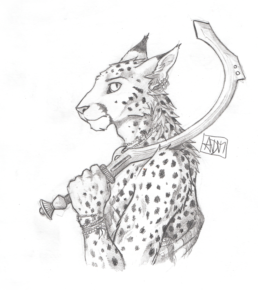 Daily Sketch Cat With Sword By 0laffson On Deviantart