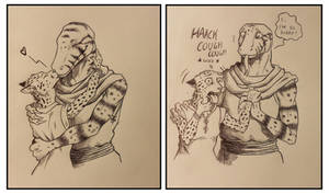''Daily'' sketch - Interspecies Issues.