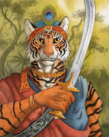 Indian Tiger by 0laffson