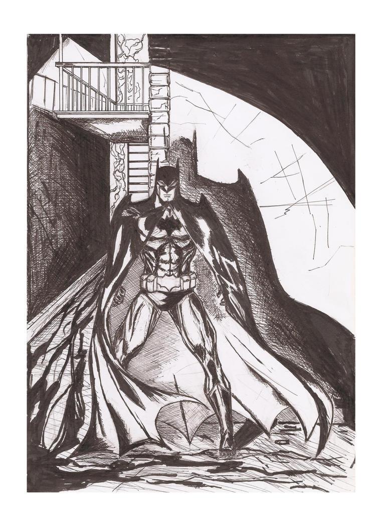 Batman inked by Radiation-Stress