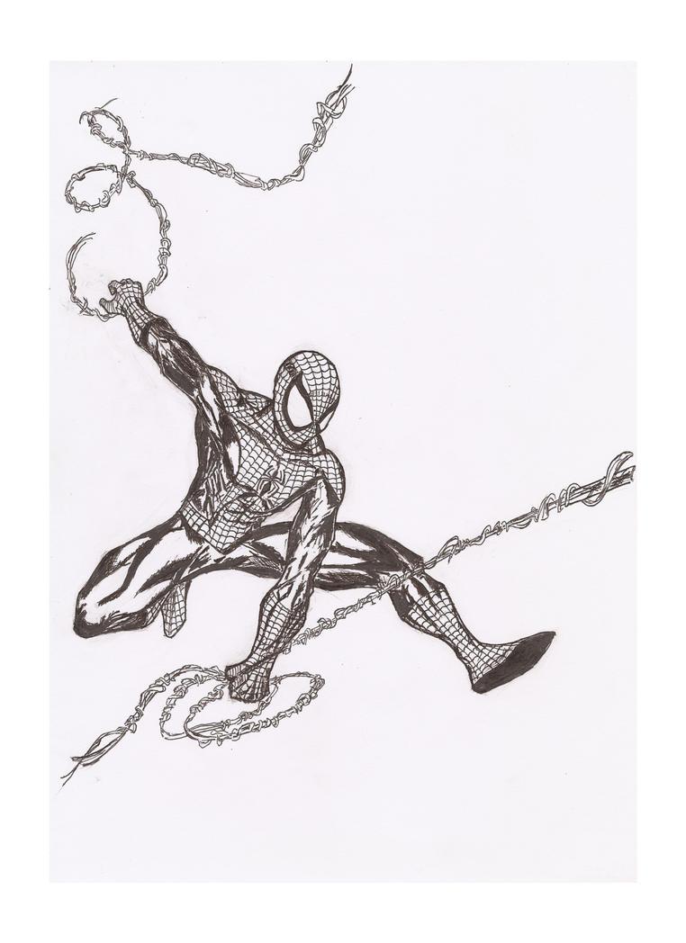 Spider-man inked by Radiation-Stress