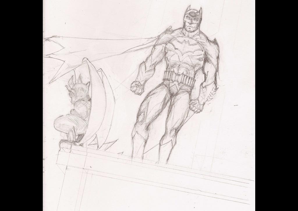 Batman work in progress by Radiation-Stress