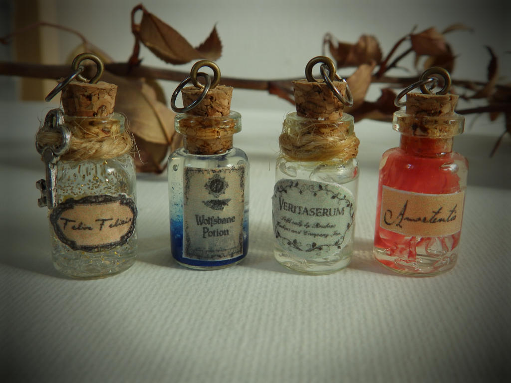 Harry Potter Mini Potion Pendants By Ravenmorg On Deviantart