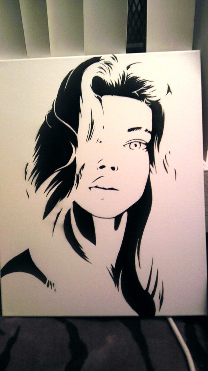 Stencil Artwork Spray Paint