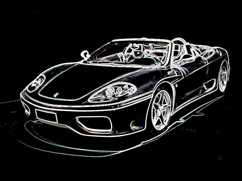 Sports Car On Black Background By JohnJeffrey ...