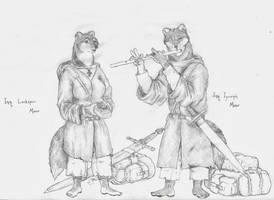 Inquisitors Yusif and Larkspur Moor by Zaphkiellane