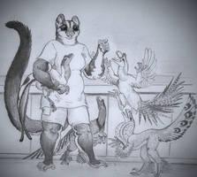 Crazy Raptor Lady by Zaphkiellane