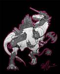 Cybersaurs: TyrannoZaurus by GuitarAtomik
