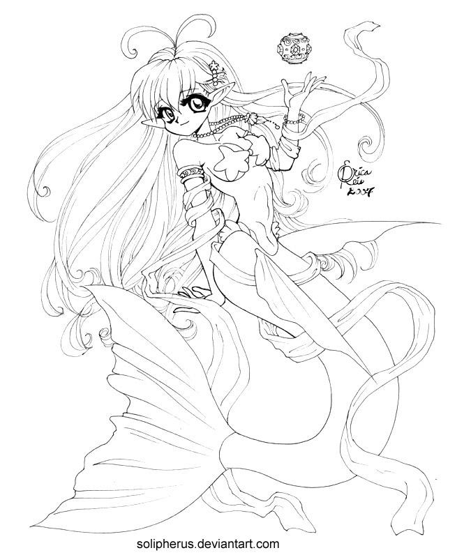 hypergeneric anime mermaid by solipherus