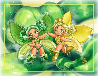 Citrus Twin Fairies by solipherus