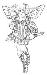 diamond stripes faery by solipherus