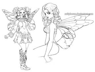 bee faery concepts by solipherus