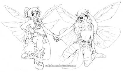 faery girls by solipherus