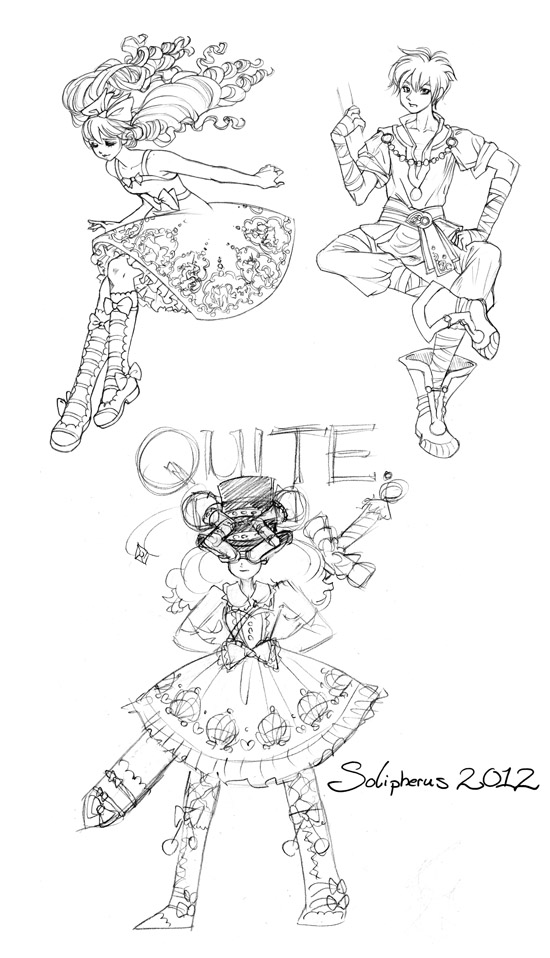 more DnD lolita character sketches by solipherus