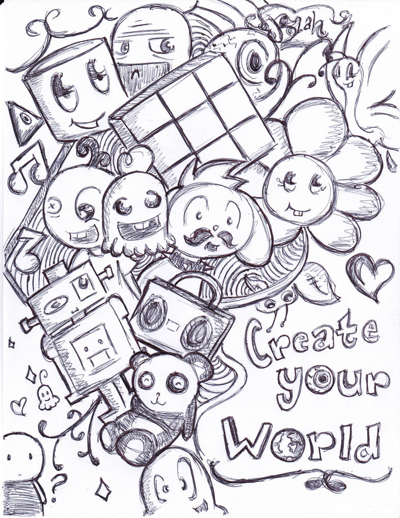 Simple doodle art character images for Doodle characters