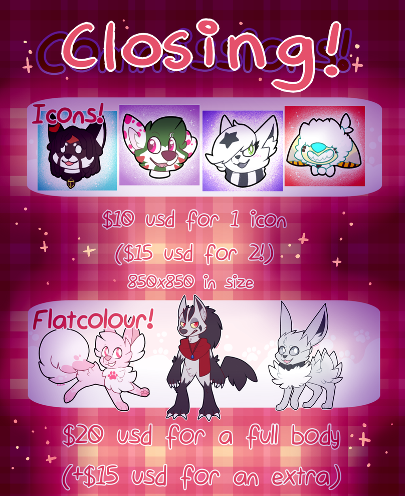 Commissions |Closing June 10th| by pupom