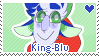 King-blu Stamp by pupom