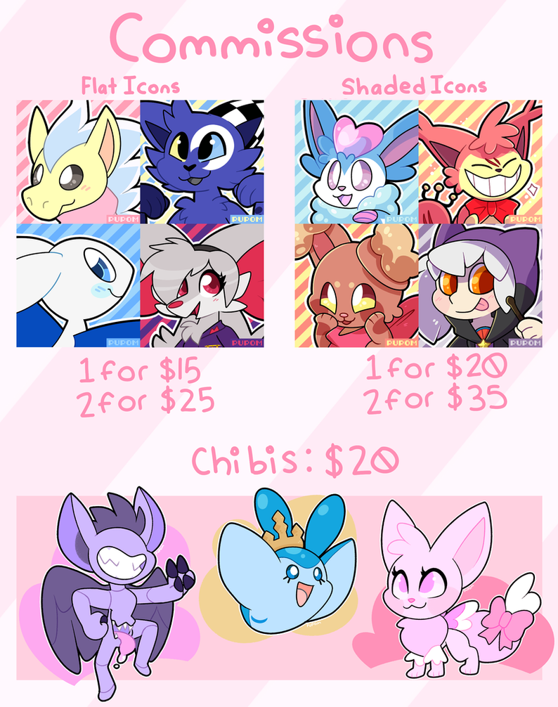 Commissions August-September 2017 by Pupom