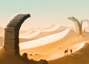 Desert Bridge by ShyMagpie