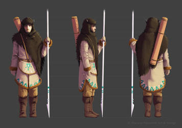 Character Concept: Nomad Ambassador (Turnaround) by ShyMagpie