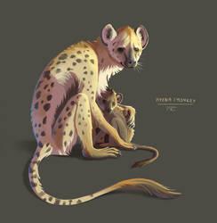 Animal Mashup: Hyena-Monkey