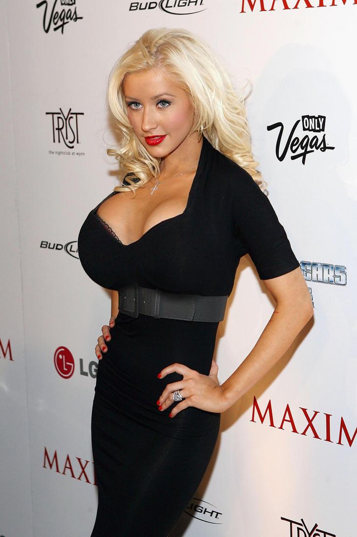 Christina Aguilera ... heavy up top by CeBe2008